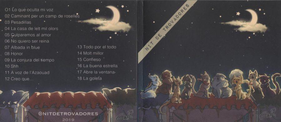 Portada y Contraportada CD Nit de Trovadores 2019